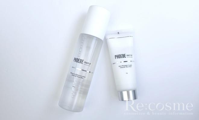 PHOEBEの化粧水と乳液の写真