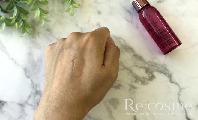 プリマモイストの化粧水のテクスチャ